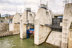 River water power electricity energy dam Royalty Free Stock Photography