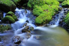 River with waterfall. Stock Photos
