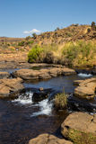 River and Waterfall at Bourke Luck Potholes, Blyde River Canyon, South Africa Royalty Free Stock Images