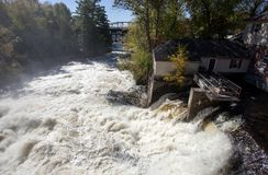 River Waterfall Bracebridge Ontario Stock Photo