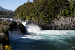 River with waterfall, Chile Royalty Free Stock Image