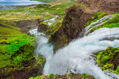 River from waterfall Dynjandi in Iceland Royalty Free Stock Photo