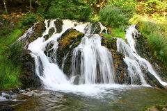 River with waterfall in the forest Stock Photography