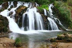 River with waterfall in the forest Royalty Free Stock Photos