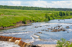 River with waterfall Royalty Free Stock Photography