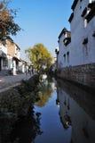 River. A river way in Suzhou, Beijing Royalty Free Stock Photo