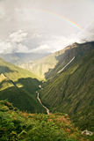 A river in the way to reach Machu Picchu Lost City Royalty Free Stock Photo