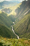 A river in the way to reach Machu Picchu Lost City Royalty Free Stock Photos