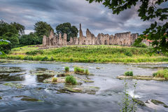 River Wear and Finchale Priory Stock Photo