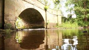 River weir bridge A stock video