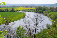The river Weser in the spring Royalty Free Stock Photos