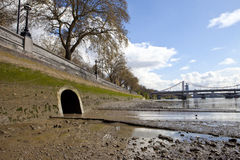 River Westbourne Outlet into the Thames Royalty Free Stock Photos