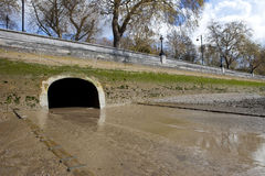 River Westbourne Outlet into the Thames Royalty Free Stock Photo
