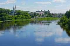 River Western Dvina in Belarus Royalty Free Stock Images