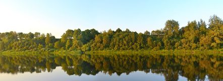 River Western Dvina (Daugava). Panorama Stock Photos