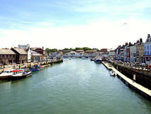 River Wey at Weymouth, Dorset, UK. Stock Images