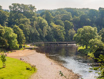 River wharf. E on a summers afternoon, Bolton Abbey, Skipton, Yorkshire, UK Stock Photography