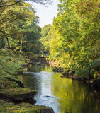 River wharf. E on a summers afternoon, Bolton Abbey, Skipton, Yorkshire, UK Royalty Free Stock Photo