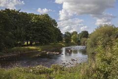 River Wharfe, Yorkshire stock images