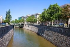 River Wien in City of Vienna Stock Images