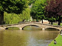 River Windrush, Bourton on the Water. Stock Photos