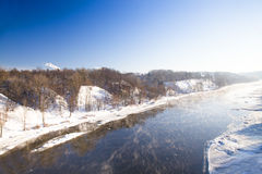 The river (winter) Royalty Free Stock Photo