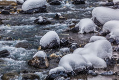 River in Winter Abstract Stock Images