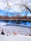 River in winter day Stock Photo