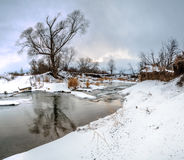 The river in winter Royalty Free Stock Photography