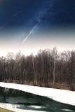 River winter night Royalty Free Stock Image