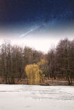 River winter night . Stock Photo