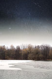 River winter night . Royalty Free Stock Photos