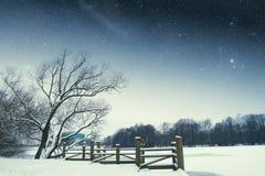 River winter night. Royalty Free Stock Image