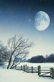 River winter night. Stock Photo