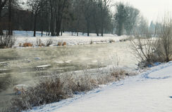 River in winter Stock Photography