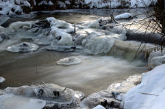 River in the winter. Royalty Free Stock Images