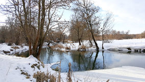 River in the winter stock images