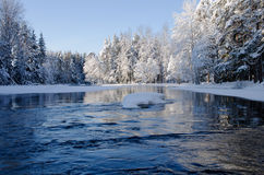 River in winter Royalty Free Stock Image