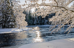 River in winter Stock Photos