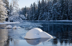 River in winter Stock Image