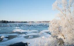 River in winter Stock Photo