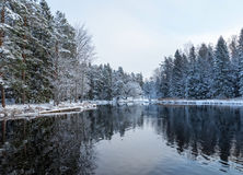 River in winter Stock Images