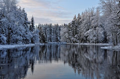 River in winter Royalty Free Stock Photography