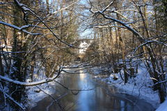 River in Winter. Small river on a bright winterday Royalty Free Stock Images