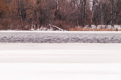 River, winter, snow Royalty Free Stock Photography