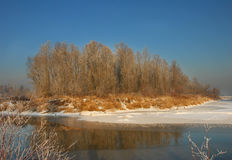 River on the winter time Royalty Free Stock Image