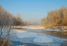 River on the winter time Royalty Free Stock Images