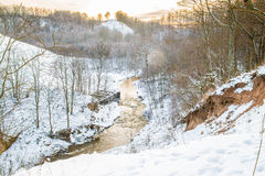 River at winter time Stock Photography