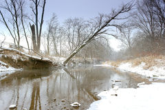 River in the winter time Stock Photos
