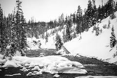 River in winter, Yellowstone Stock Image